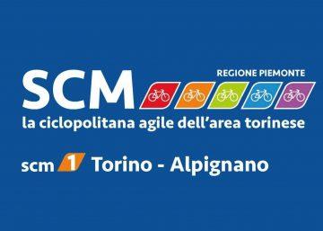 Logo della SCM 1 - Ciclopolitana Torino Alpignano che collegherà anche Rivoli e Collegno
