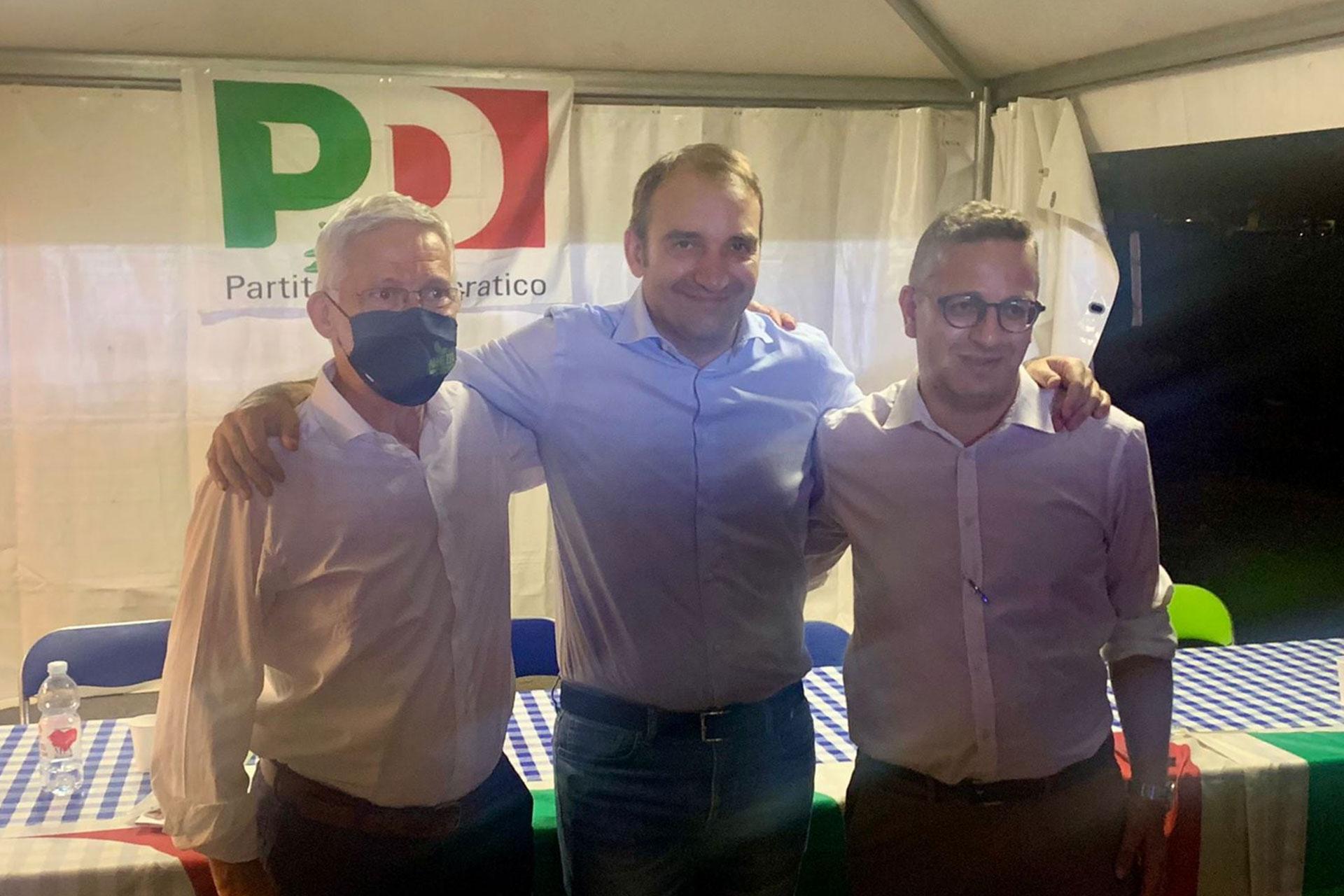 Incontro alla Festa de l'unità di Rivoli tra i candidato sindaco Agagliati di Pianezza, Lo Russo di Torino, Muro di Rivalta